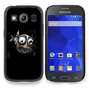 Stuss Case / Funda Carcasa protectora - 3D Funny Fish Eyes Submarino Negro - Samsung Galaxy Ace Style LTE/ G357