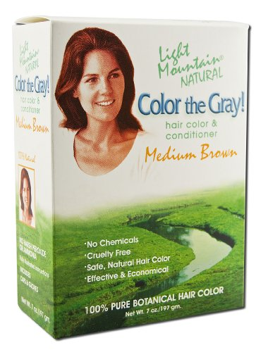 LIGHT MOUNTAIN Color The Gray Medium Brown, 7 OZ (Best Gray Coverage Hair Color Reviews)