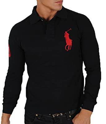 ShirtBig Manches PoloSweat Ralph Longues Lauren Pony w08nyvNOm