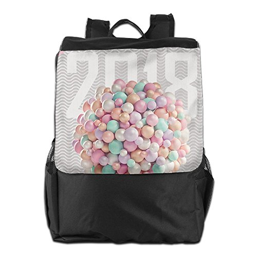 Different Outdoor Men And Women Travel Backpack Happy New Year Eve Ballon 2018 Shoulder Bag