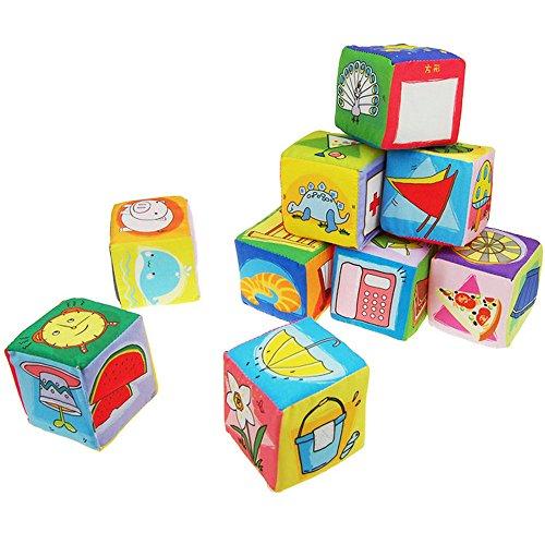 Kids Soft Foam Cube (FJTANG 9 Pcs/set Baby Large Foam Blocks Soft Foam Building Toys)