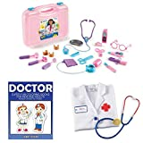 Learning Resources Pretend & Play Doctor Set, Pink, Medical Equipment, Fun Play, Doctor Kit, Set For Kids, Toy Thermometer, Bandages, Fun Educational Activities, Super Fun Coloring Book