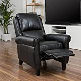 Affordable Christopher Knight Home Haddan PU Leather Recliner Club Chair Kitchen Furniture Black For Sale