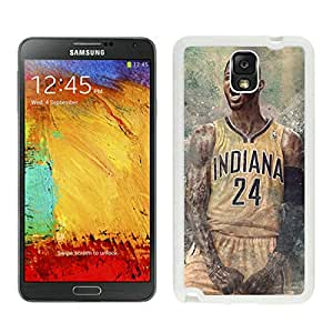 New Custom Design Cover Case For Samsung Galaxy Note 3 N900A N900V N900P N900T Indiana Pacers Paul George 4 White Phone Case