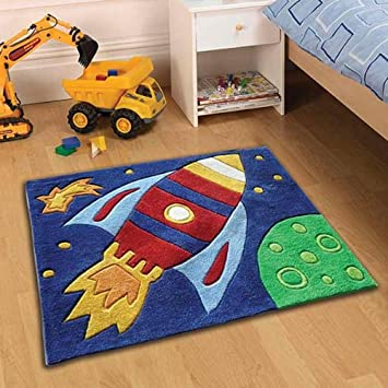 Sehr Gut Teppich Kiddy Play - Rakete - bunt - 70 x 100 cm: Amazon.de: Küche  UU61