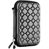 Alexvyan Shock Proof External Hard Disk Case Protector for 2.5 Inch Sony USB 3.0 2.0 1 TB Drive (Black Strips)