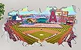 """Angel Stadium of Anaheim Stadium Los Angeles Angels Wall Decal Sticker Vinyl Decor Door Window Mural - Broken Wall - 3D Designs - OP113 (Large (Wide 40"""" x 24"""" Height))"""