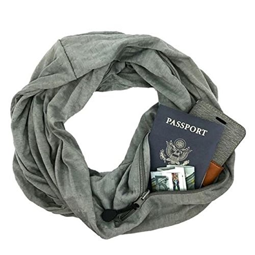 Sholdit Pocketed Scarf Bliss Gray Womens Scarf
