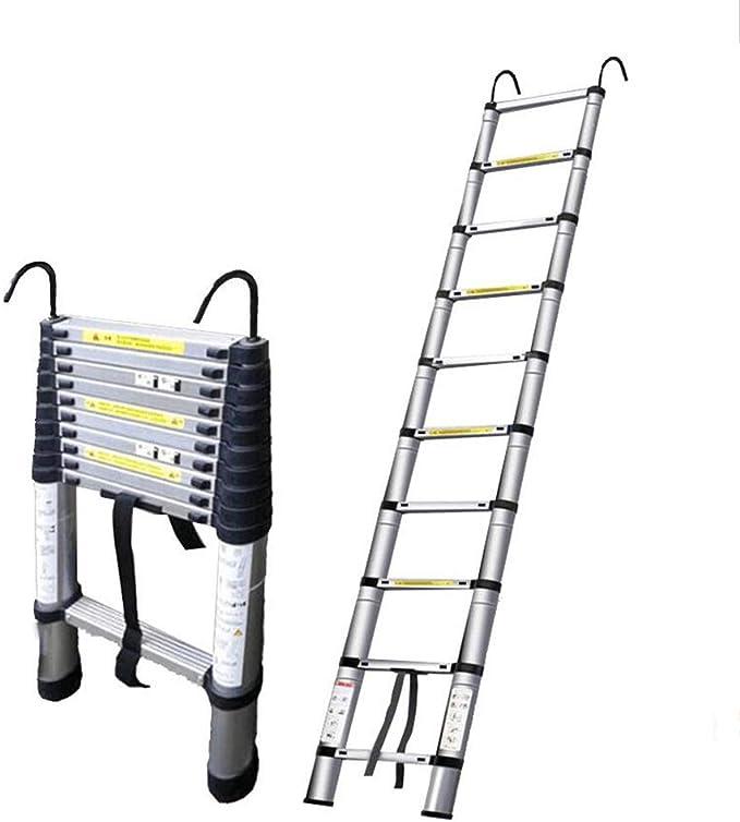 DD Escalera Extensible Telescópica 2M-7M Escalera Extensión Telescópica Escalera Recta Pliegue Ático Hogar Aleación Aluminio/con Gancho (Tamaño : 7m+Hook+Balance Bar): Amazon.es: Bricolaje y herramientas