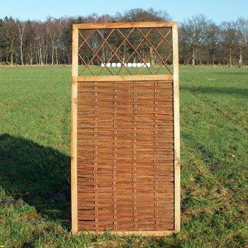 Weidenzaun / Flechtzaun 'Fence' als Sichtschutz und Windschutz - Sichtschutzzaun 1 Stück, 90 x 180 cm