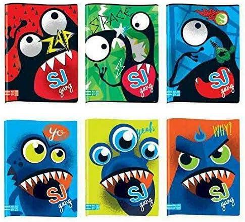 30/% fogli QUADERNO Maxi A4-5 pezzi quadernone SEVEN SJ FACCE BOY grafiche assortite QUADRETTO 10 mm - max q.ty - QUADRETTONE 1 cm