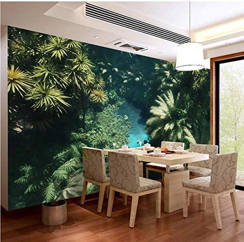 Hwhz Custom 3d Photo Wallpaper Tropical Rainforest Landscape Forest Mural European Style Retro Living Room Dining Room Decor Painting 450x300cm