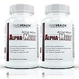 Active Men's Alpha-Multi – High Performance Multivitamin Providing Complete Nutrition for Active Men, Male Health, 60 tablets per bottle (2 Bottles)