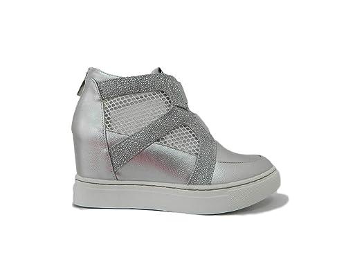 Maria Mare Mujer 66918 Zapatillas Altas Plateado Size: 35 EU: Amazon.es: Zapatos y complementos
