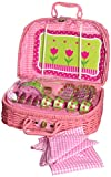 tin tea sets with basket - Delton Products Tulips Tin Tea Set in Basket, 4
