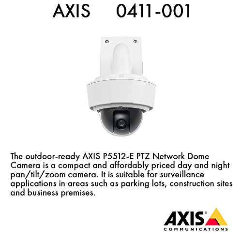0411-001-AXIS-P5512-E-NETWORK-PTZ-DOME-CAMERA-AXIS-Communications-Network-PTZ-Surveillance-Camera