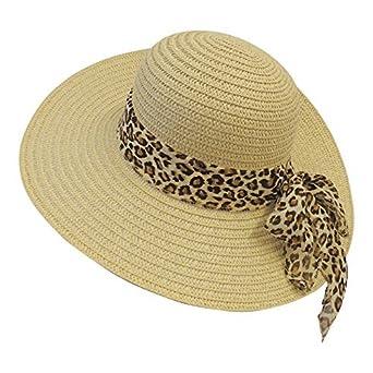 New Retro Wide Brim Raffia Leopard Summer Sun Hat 1920 s 1930 s 1940 s Style f57cdad60e8b