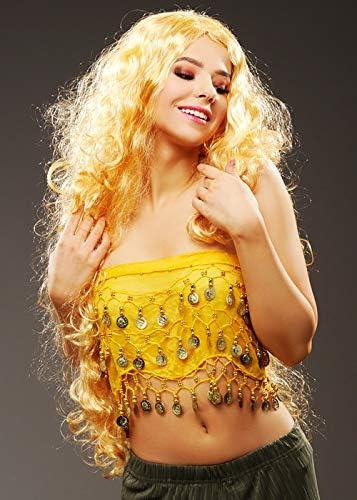 Magic Box Shakira para Mujer Estilo Peluca Rubia Larga: Amazon.es ...