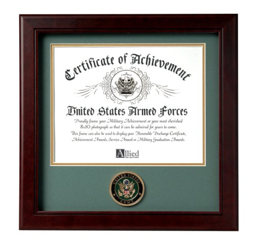 Allied Frame United States Army Certificate of Achievement (Military Certificate)