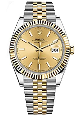 Rolex Datejust 41 Stainless Steel & 18K Yellow Gold Jubilee Watch White Dial 126333 from Rolex