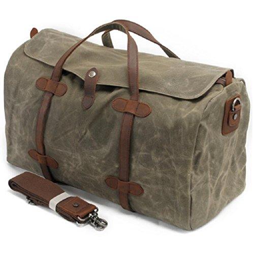 ZC&J Conveniente para los hombres y las mujeres utilizan el bolso del bolso del recorrido de la lona de la capacidad grande 36-55L, excursionando bolso del mensajero del recorrido del recorrido corto  D