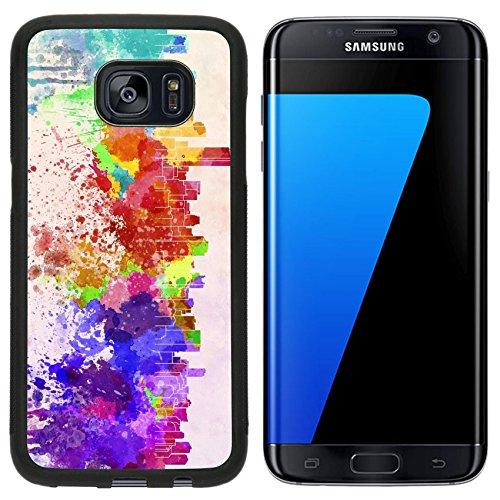 Liili Samsung Galaxy S7 Edge Aluminum Backplate Bumper Snap Case Iphone6 Id  27383127 Miami Skyline In Watercolor Background