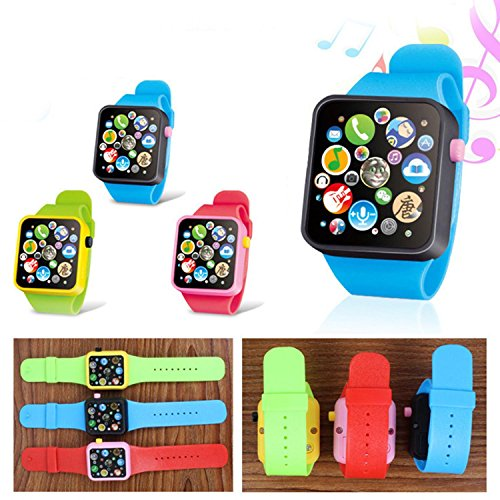 HOTLISTA Fashion Music Touch Button Battery Watch Toys for Children