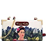 New Authentic Frida Kahlo Jungle Series Zip Around Wallet w/Cross Body Strap(Red)