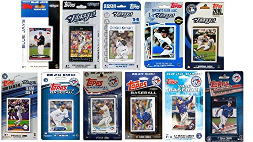 C&I Collectables MLB Toronto Blue Jays Men's 11 Different Licensed Trading Card Team Units, White – DiZiSports Store