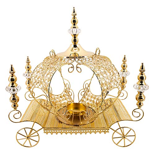 Simply Elegant Crystal Pumpkin Carriage Candle Holder 23½