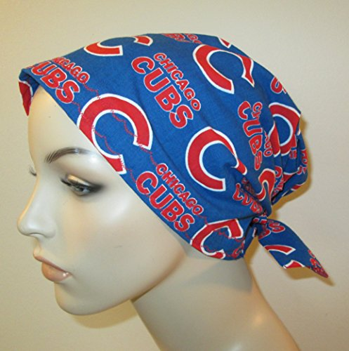 Scrub Cap Chicago Cubs Chemo Hat Alopecia Head Cover Cancer Scarf