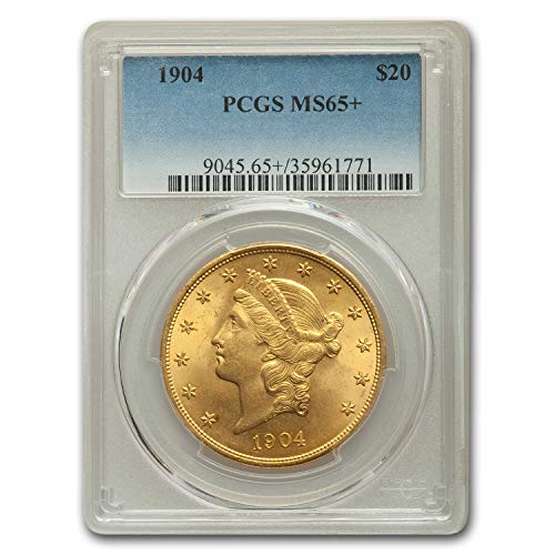 1904 $20 Liberty Gold Double Eagle MS-65+ PCGS G$20 MS-65 PCGS