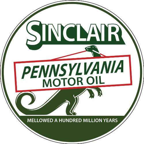 Victory Vintage Home - Victory Vintage Signs Extra Large Round Sinclair Pennsylvania Gas and Motor Oil Reproduction Sign
