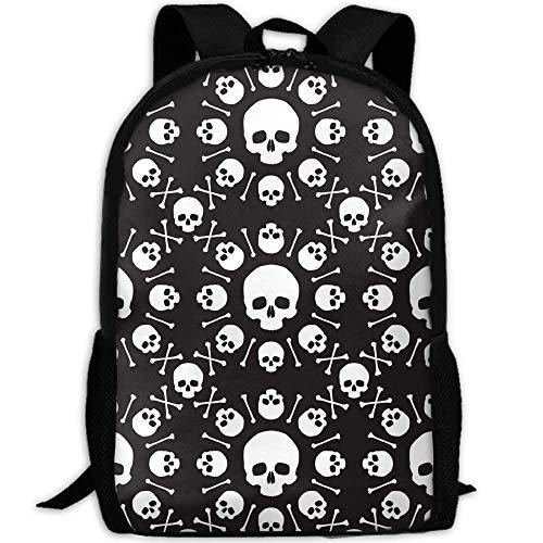 DKFDS Backpacks Laptop Backpack For Women Men Skull Student -