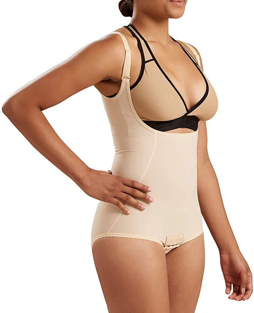 Marena Recovery Knee-Length Compression Girdle with High-Back Step 2 Pull on