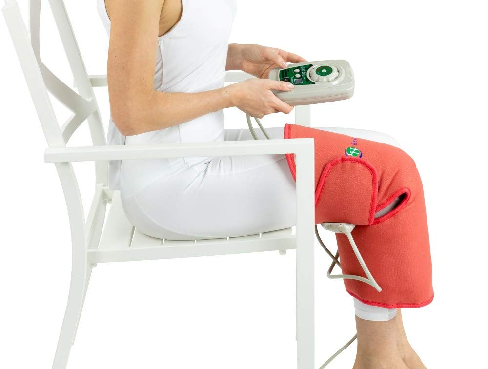 HealthyLine Amethyst Knee Brace Pad - Tourmaline and Jade Stones, Far Infrared Heating Therapy and Negative Ions (Soft)
