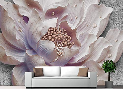 Murwall Floral Wallpaper Soft Flower Wall Mural 3D Blossom Wall Print Horizontal Home Decor Cafe Design Living Room