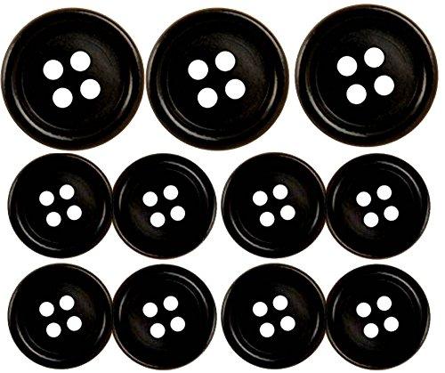 Black Suit Buttons Set- 11 Pieces- Ships Free
