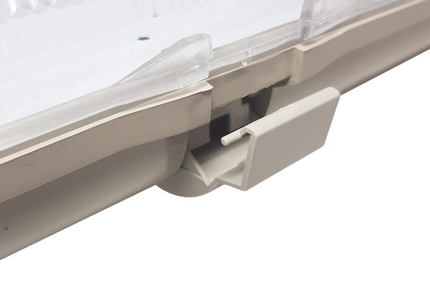 Plafoniera Doppio Neon 150 Cm : Plafoniera stagna attacco doppio led neon t cm esterno