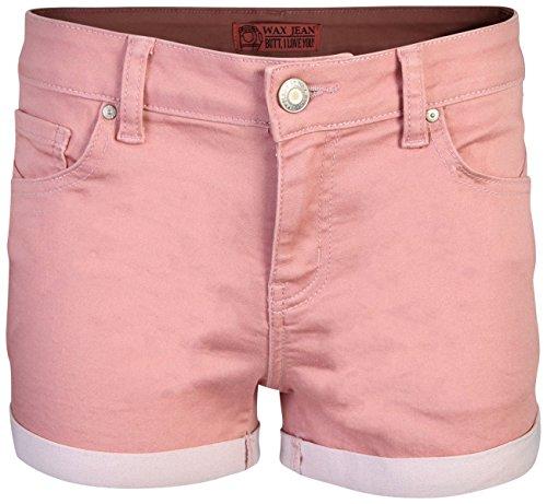 Wax Women\'s Juniors Perfect Fit Mid-Rise Denim Shorts (Medium, Mauve)' ()