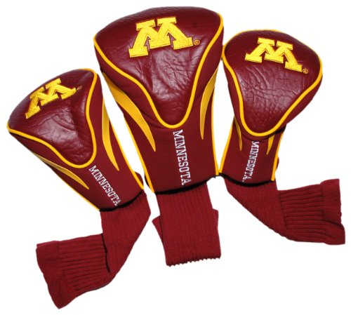 NCAA Minnesota Golden Gophers 3 Pack Contour Head Covers (Gophers Minnesota Golf)