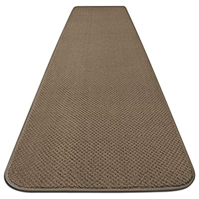 House, Home and More Skid-Resistant Carpet Runner - Camel Tan - 6 Feet X 27 Inches - These carpet runners feature a premium, skid-resistant rubber backing to create a slip-resistant surface for your family and pets Made of high-quality olefin carpet to resist stains Bound on all edges to prevent fraying - runner-rugs, entryway-furniture-decor, entryway-laundry-room - 51tLewraDWL. SS400  -