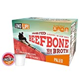 LonoLife Grass-Fed Beef Bone Broth Powder with 10g Protein, K-Cup Pods, 10 Count