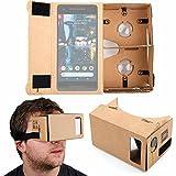 DURAGADGET Google Cardboard Virtual Reality Headset - Compatible with The Google Pixel | Pixel 2 | Pixel XL | Pixel 2 XL