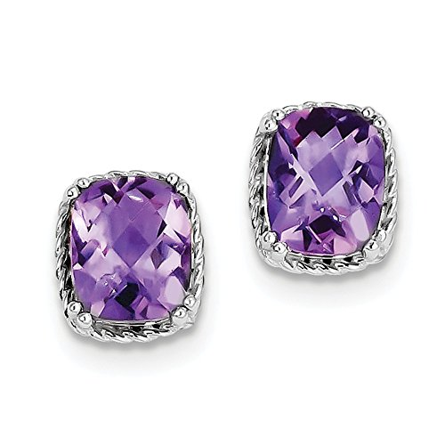 Sterling Silver Amethyst Earrings by CoutureJewelers