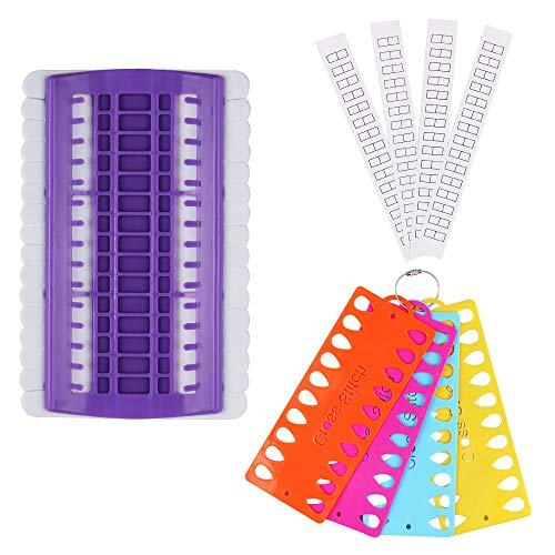 Embroidery Floss Organizer, BENBO Plastic Foam 30 Positions Thread Organizers Cross Stitch Embroidery Kit Tool with 4 Pcs 20 Positions Thread Project Cards, Embroidery Needlework Project Thread Holder