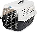 Petmate 41032 Compass Fashion Kennel Cat and Dog Kennel, 10-20 lb., Pearl White/Black