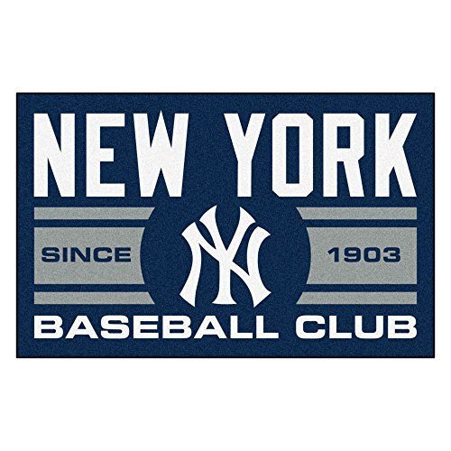 Border New York Yankees (FANMATS 18477 New York Yankees Baseball Club Starter Rug)