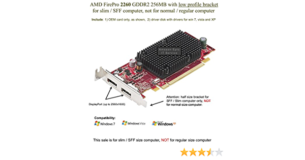 ATI FireMV 2260 Graphics Card ATi FireMV 2260-256MB DDR2 SDRAM PCI Express x1