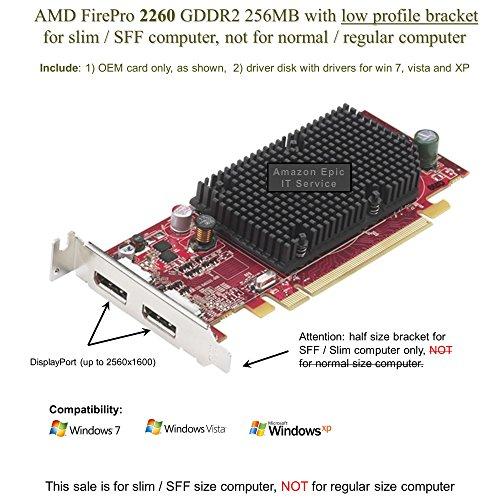 New AMD/ATI Firemv 2260 Graphics Card 256MB DDR2 SDRAM PCI Express X16 Green Compliance